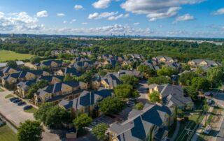 Drone picture of Austin